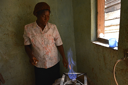Rose and her family were introduced to domestic biogas.
