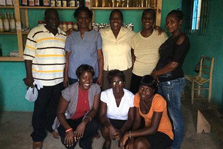 The CAFDESA women's group in Haiti.