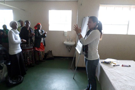 Silvia Cruz-Vargas was one of eight PepsiCorps members who spent a month working with Heifer International South Africa.
