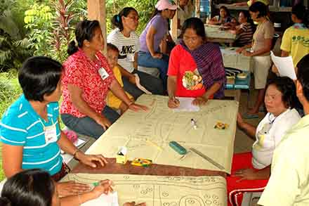 RISE Project families during hazard mapping.
