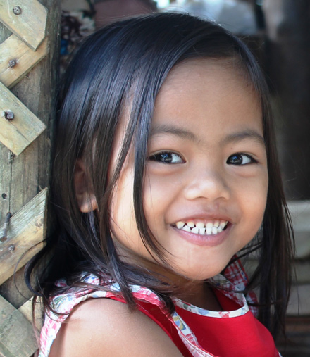 Maria Janine, 4, wants to be a teacher.