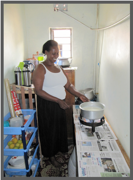 Biogas has transformed her kitchen