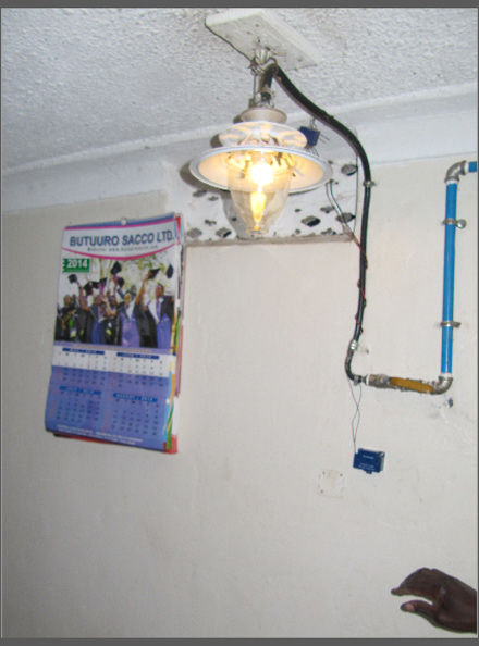 Biogas also powers lamps in the home