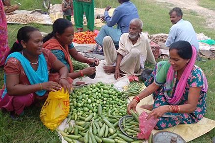 Farmers in Rupandehi district no longer have to travel far to sell their produce at market.