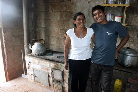 Yours Cosinga Quispe and his mother Ines Quispe Yaranga have seen their lives become easier thanks to their improved kitchen.