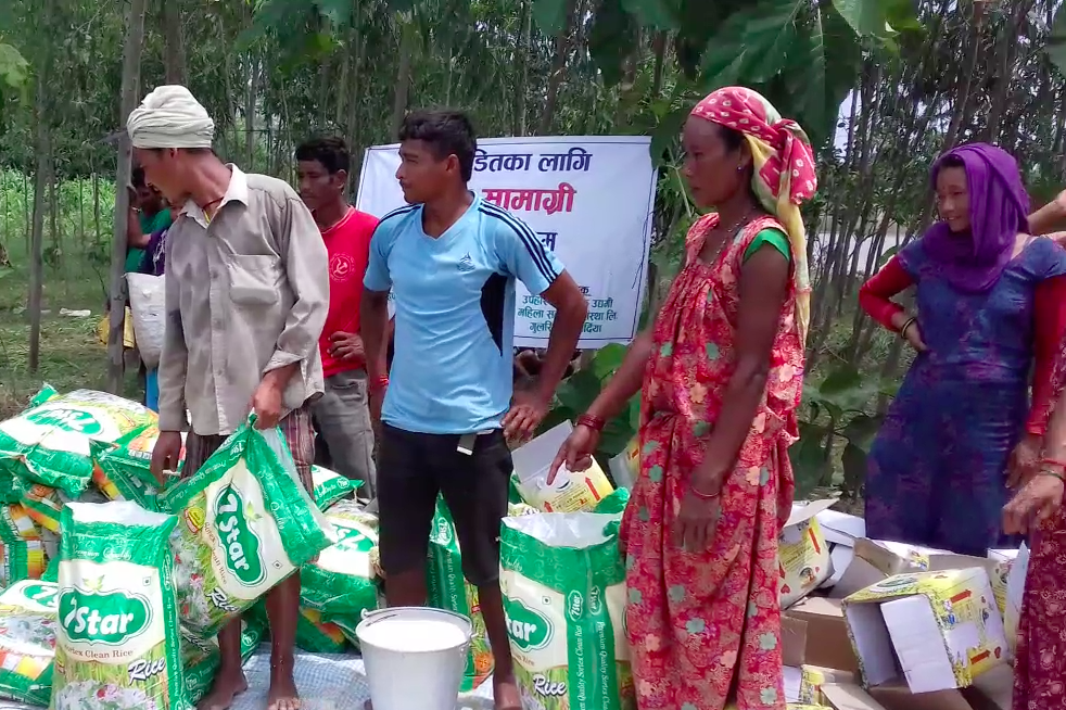 A relief distribution station