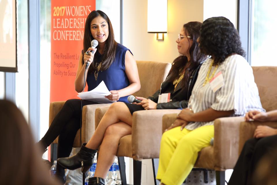 Daya hosts a panel at the 2017 Women's Leadership Conference.