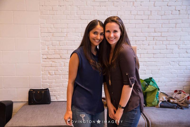 Asha poses with Sarah Moshman.