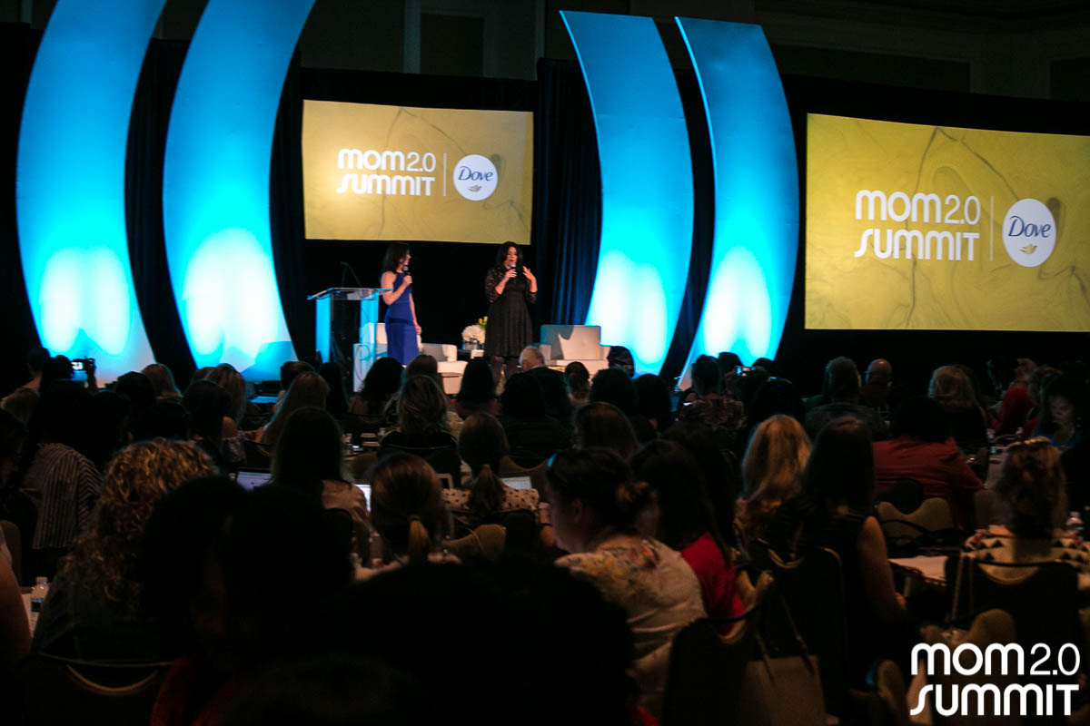 Mayes and Pacini speak at the Mom 2.0 Summit.