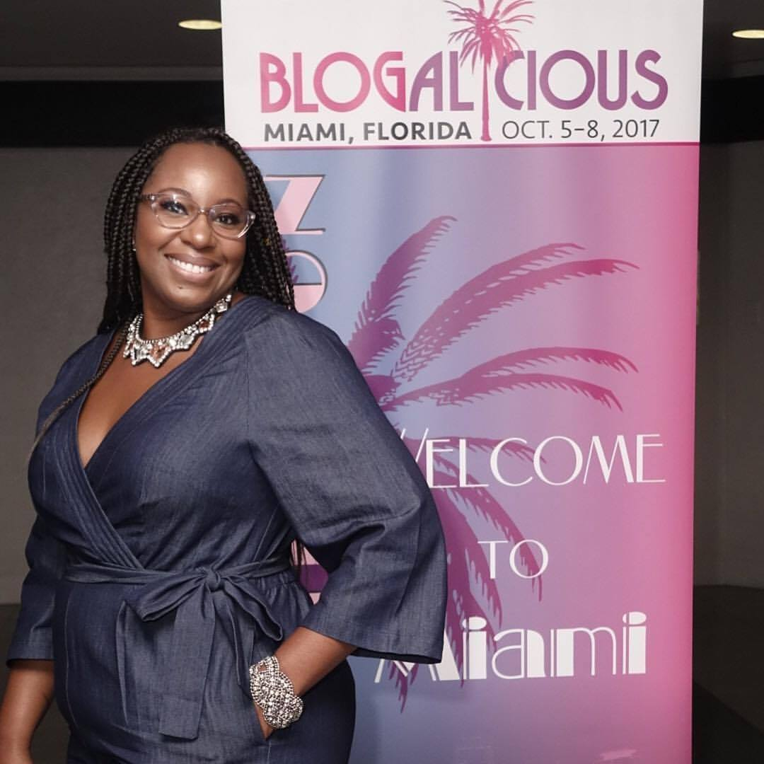 Stacey Ferguson at the Blogalicious conference in Miami.