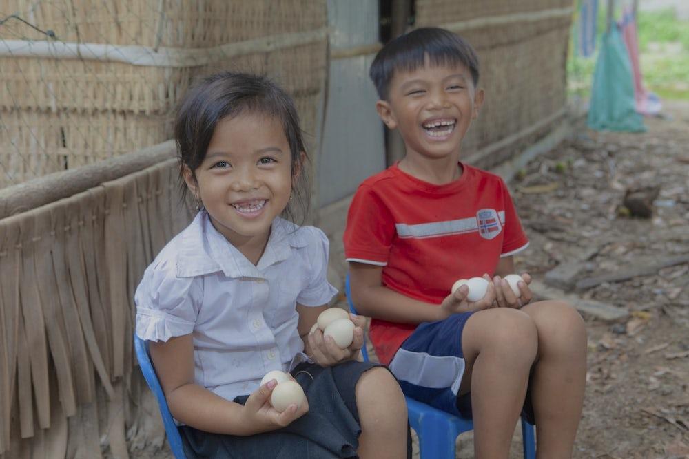 Cambodian children, Heifer International