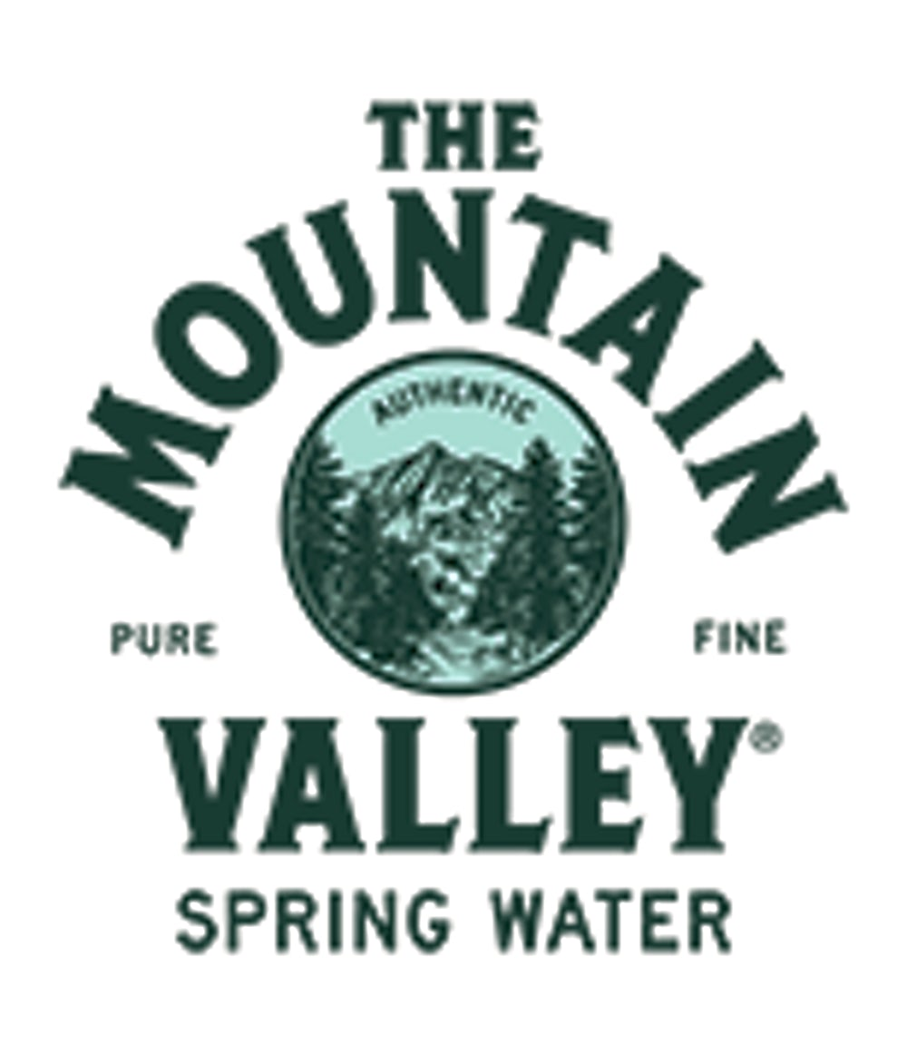 Mountain Valley Spring Water logo.