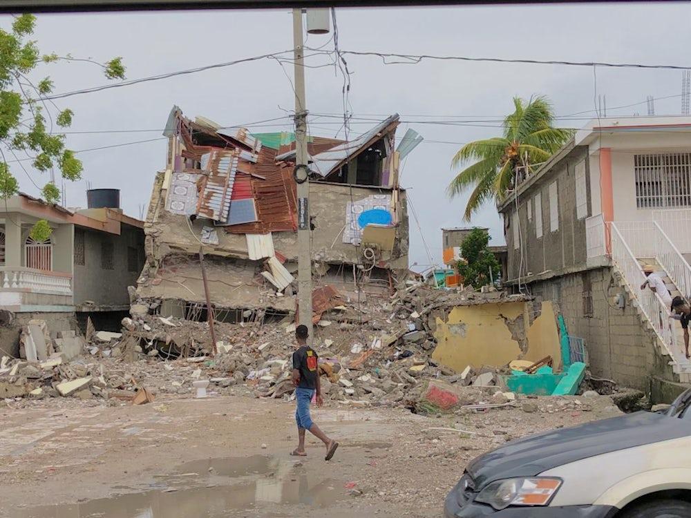 damage from Haiti earthquake