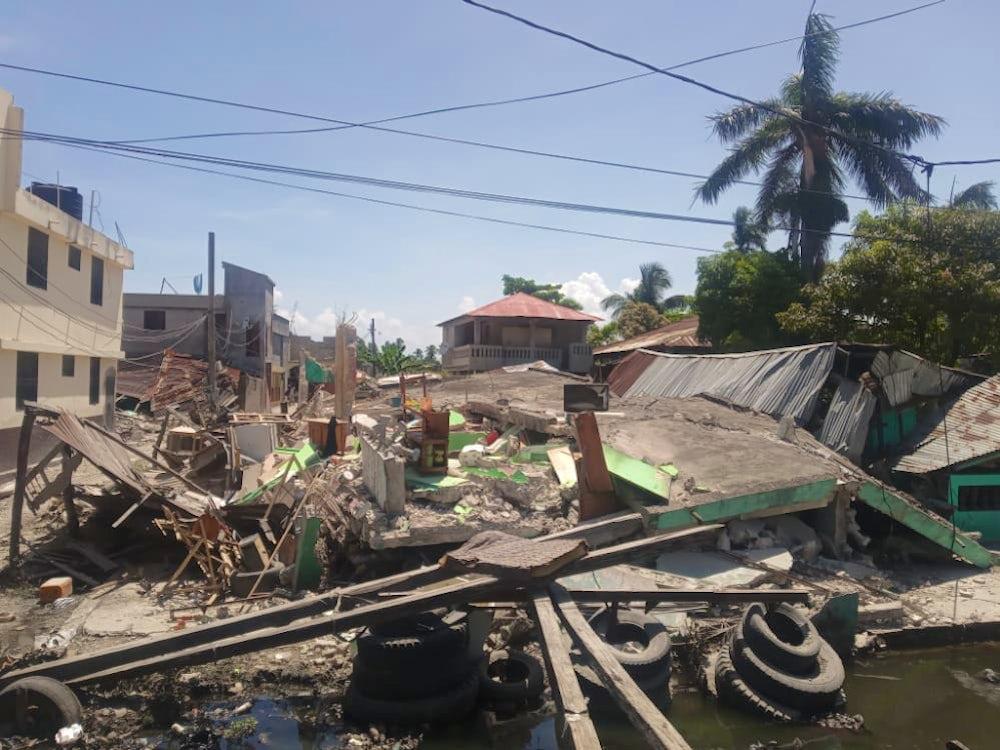 Rubble from the Haiti earthquake aftermath.