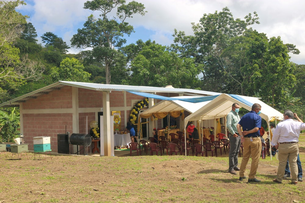 A shot of the honey processing plant in eastern Honduras.