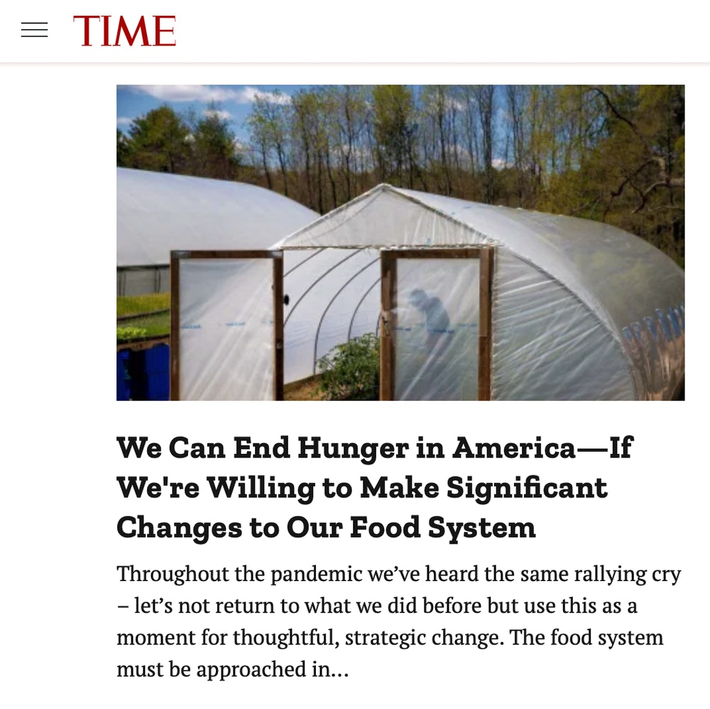 Screenshot of article from Time