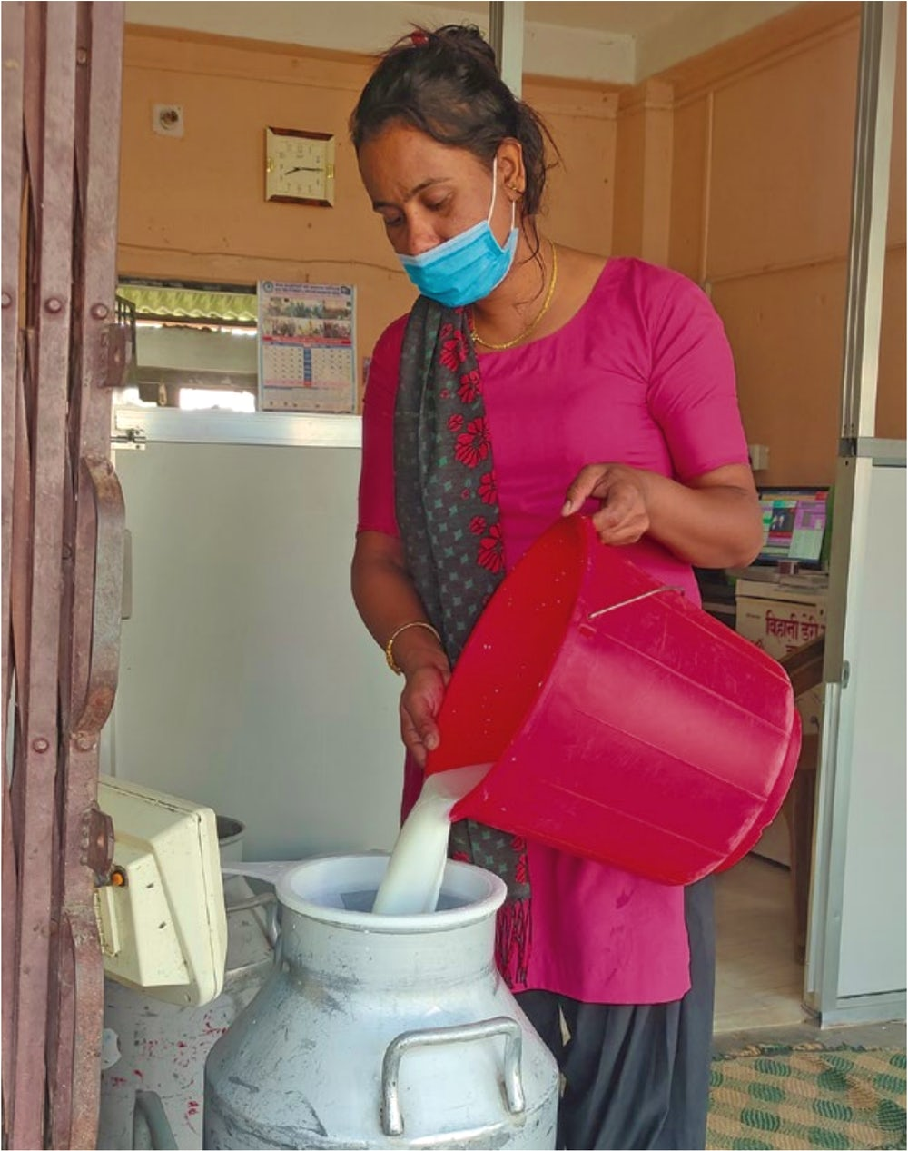 Since the beginning of the COVID-19 pandemic, the women of Bihani Dairy have been taking the necessarily precautions to keep their business running safely.