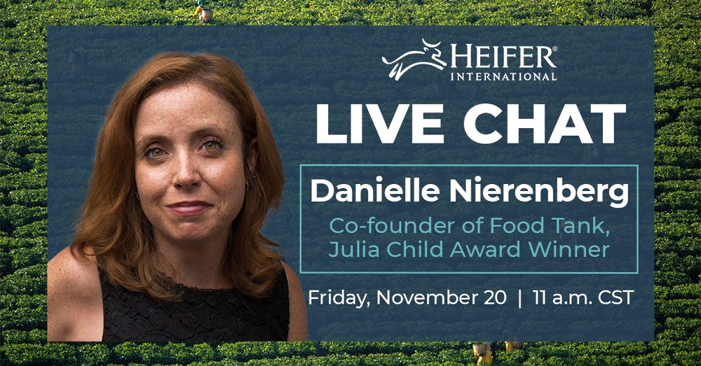 Sign up today to attend the next #HeiferTogether chat with Danielle Nierenberg.