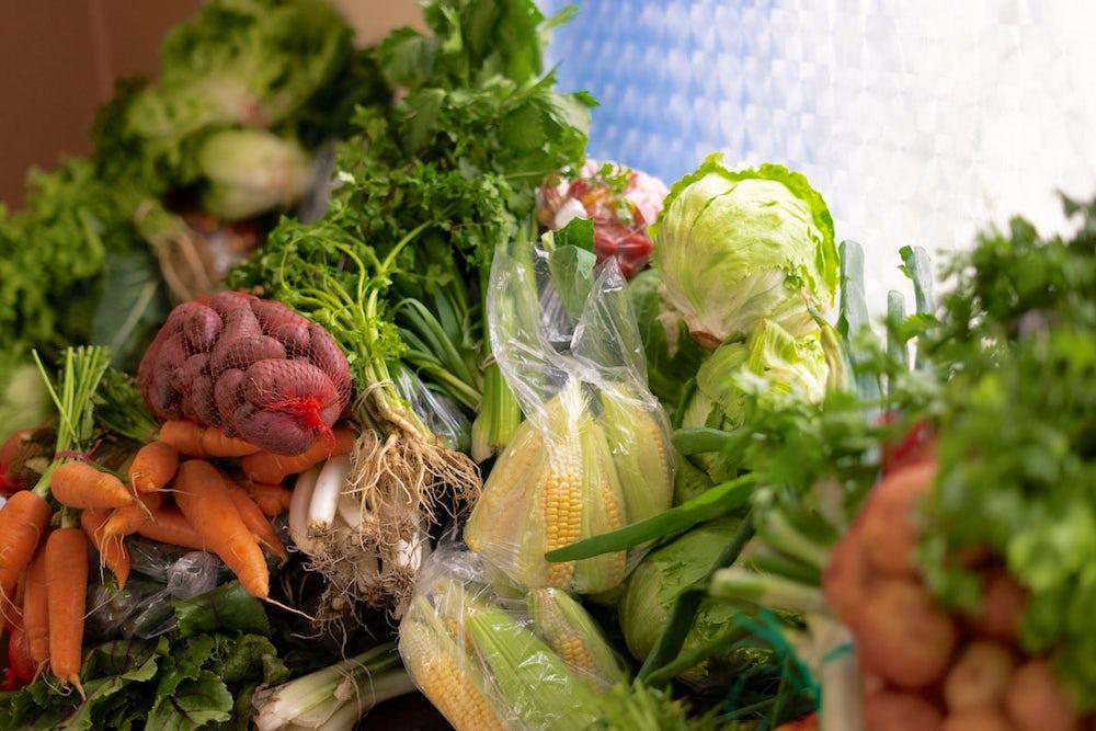 Fresh produce from Ecuadorian farms.